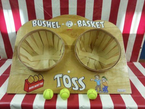 Bushel Basket Toss Carnival Game