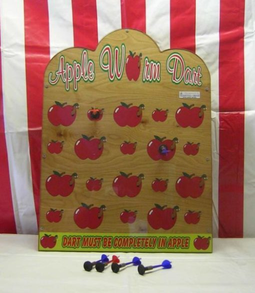 apple worm suction dart carnival game