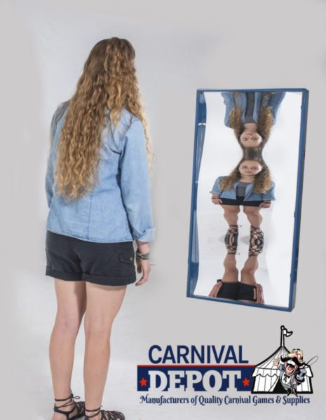Funhouse Mirror 4' (Blue Frame)