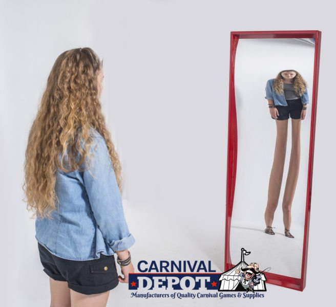 6' Funhouse Mirror Red
