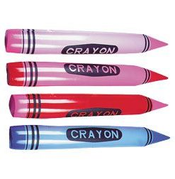 Crayon Inflatable Carnival Prize