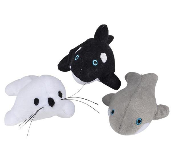 Super Soft Stuffed Animals For Babies, 5 Sea Life Bean Bag