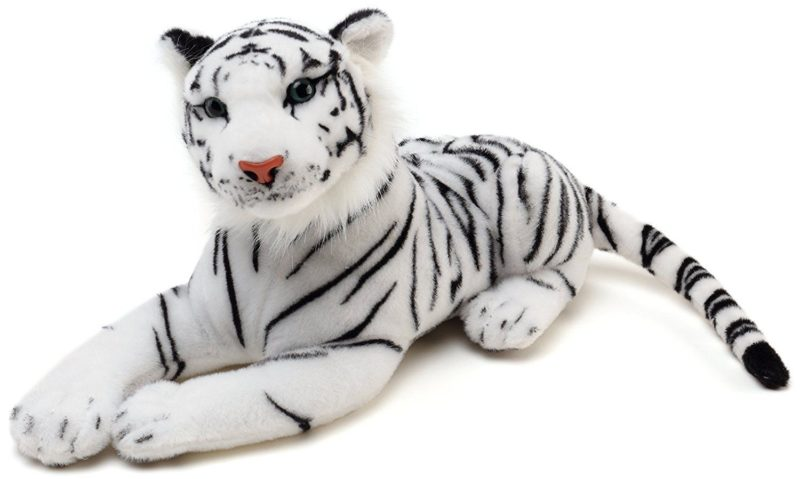 Super Soft Stuffed Animals For Babies, 40 White Tiger Plush Jumbo Plush From Carnival Depot