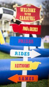 Backyard Carnival Signs