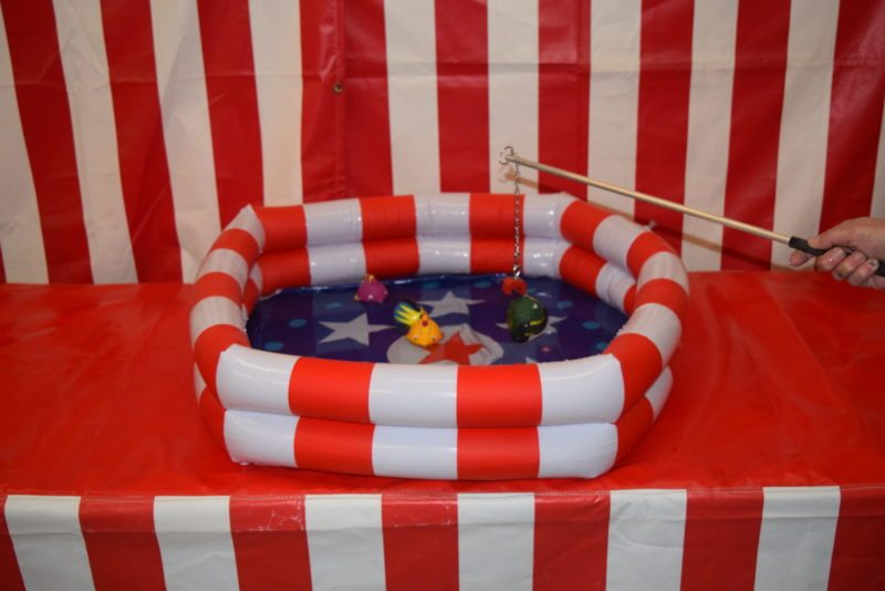 Inflatable fish pond game manufactured by carnival depot for Koi pond game
