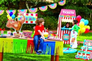 Backyard Carnival Birthday Party