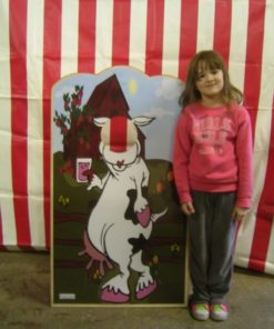 carnival cow photo frame