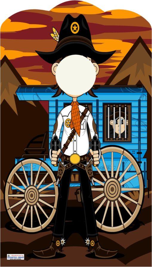 carnival cowboy photo frame