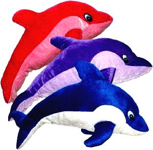 Plush Dolphin Carnival Prize