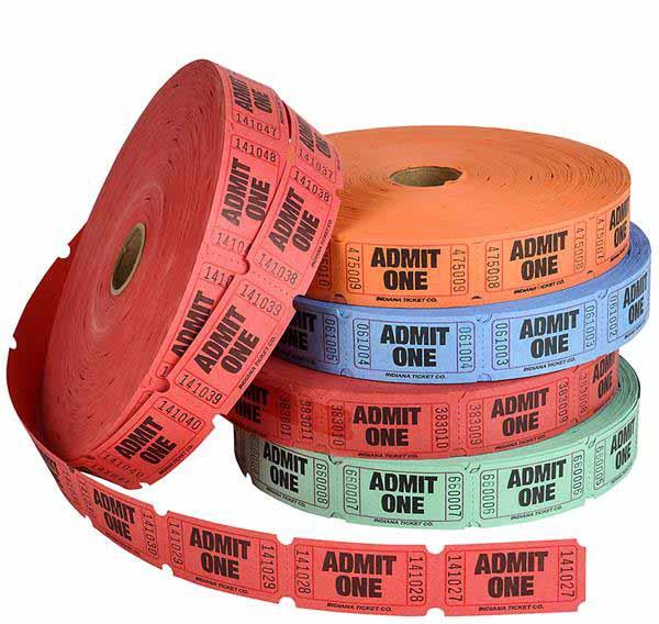 Roll Tickets-Admit One