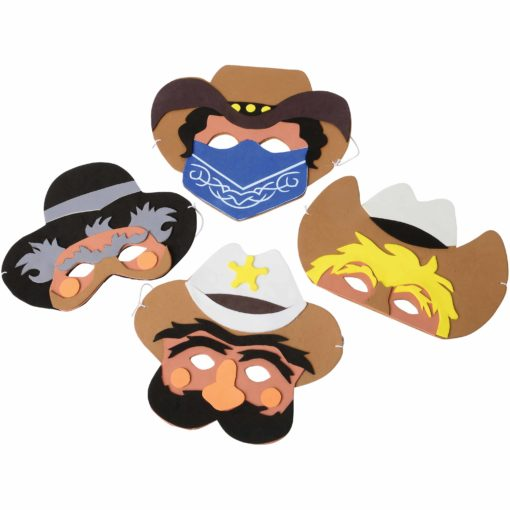 Cowboy Foam Masks