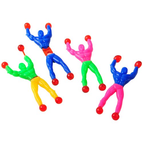 Sticky and Stretchy Muscle Man Wall Climbers
