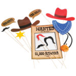 Cowboy Photo Booth Props Carnival Prize