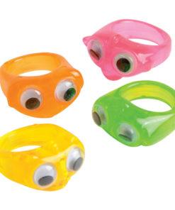 Neon Wiggle Eyes Rings