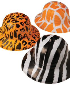Wild Animal Print Safari Hats Carnival Prize