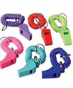 Coil Bracelet Whistle Key Chains Carnival Prize