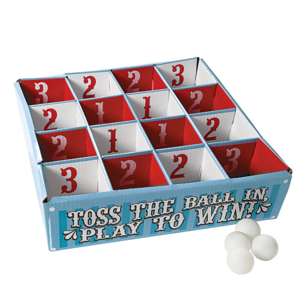 Carnival Table Tennis Ball Toss Game